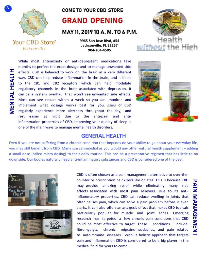 Details to Your CBD Store Grand Opening on May 11, 2019 from 10am to 6p.m