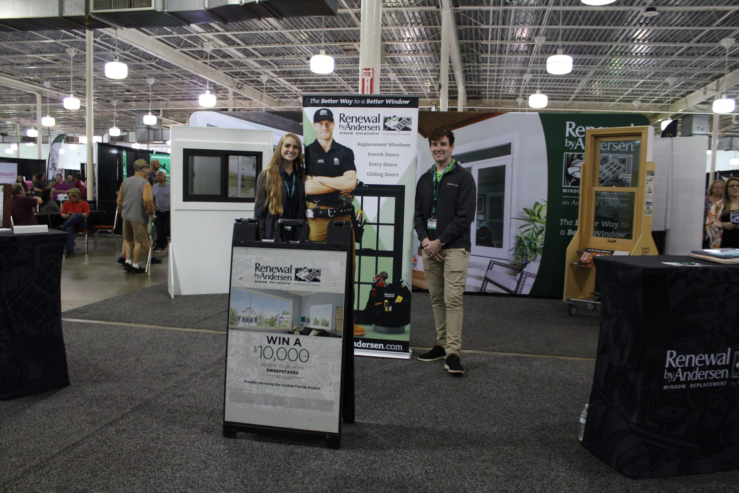Renewal by Andersen window specialist jacksonville fairgounds replacement french doors entry doors gliding doors jacksonville home and garden show
